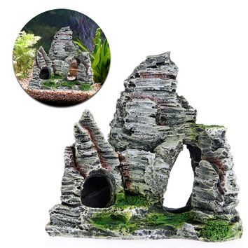 Aquarium Fish Tank Ornament Rockery Hiding Cave Landscape Decor Underwater Decor New