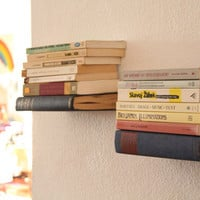 Floating Bookshelf PREORDER by deweydecimals on Etsy