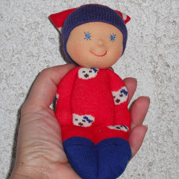 Waldorf pocket doll, Baby shower gift, Newborn girl, Christmas gifts