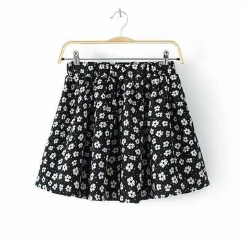 Summer Stylish Women's Fashion Korean Floral Skirt [6513844807]