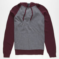 Retrofit Robert Mens Hooded Sweater Burgundy  In Sizes