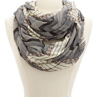 PATTERNED CHEVRON INFINITY SCARF