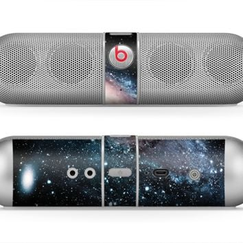 The Swirling Glowing Starry Galaxy Skin for the Beats by Dre Pill Bluetooth Speaker