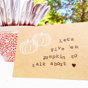 Love Card, Hand Stamped Blank Greeting Card, Farmer's Market Card, All Occasion Card, Holiday Gifts, Pumpkin Card, Stationary, Foodie Cards