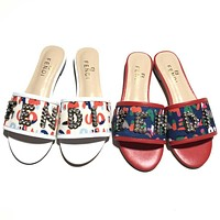 shosouvenir Fendi Girl student Fashion Slippers