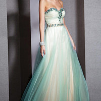 Kari Chang YN1462 Jeweled Two Tone Tulle Prom Dress