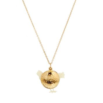 N2 By Les Nereides Gold Chicken Necklace