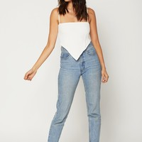 Jessie Crop - White