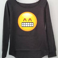 Sweatshirt + Front Pocket - Big Smile Emoji