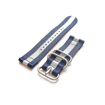 Smart Watch Strap Navy and White