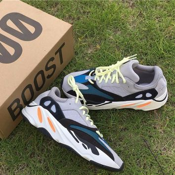 Best Online Sale Kanye West x Adidas Yeezy 700 Boost Mgh Sold Grey / Chalk White / Core Black Sport Shoes Running Shoes  YH - 0033B