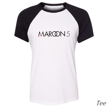 Maroon 5 Band Symbol T-Shirt For Women Girls Short Sleeves Tee Tops Creative Printed Tee for Velentines Day Gifts