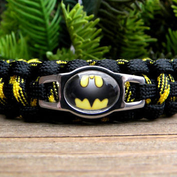 Batman Paracord Bracelet Custom Handmade-Wrist Measurement REQUIRED Please Read Listing Details