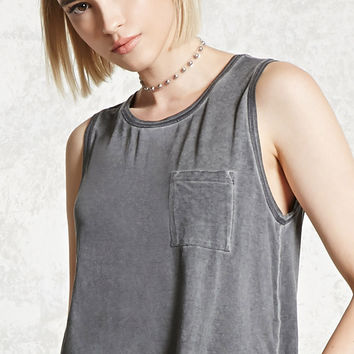 Raw-Cut Pocket Tank Top - Women - 2000085359 - Forever 21 EU English