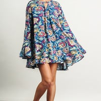 """Brianna"" Floral Print Tunic/Dress"