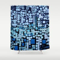 :: Blue Noise :: Shower Curtain by :: GaleStorm Artworks ::