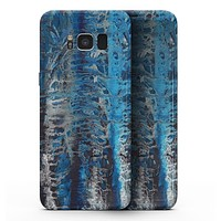Abstract Wet Paint Blues v8 - Samsung Galaxy S8 Full-Body Skin Kit