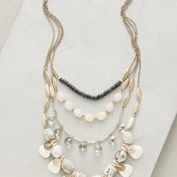 Bhutan Bib Necklace by Anthropologie in White Size: One Size Necklaces