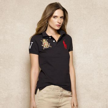 NEW POLO RALPH LAUREN SHIRT WOMEN SHORT SLEEVE T-SHIRT SIZE: S-XL-10
