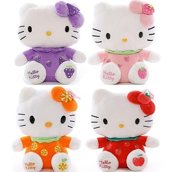"Fruit Hello kitty Cat Plush Toys Dolls 1pcs 8"" 20cm for children's gift home decoration free shipping"