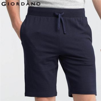 Giordano Men Shorts 2017 Bermudas Masculina De Marca Cotton Shorts Elastic Waistband Sweatpants Causal Sweat Shorts