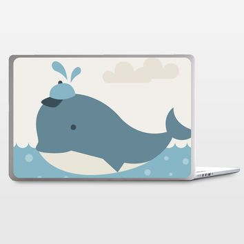 Baby Boy Whale Laptop Skin by Texnotropio on BoomBoomPrints