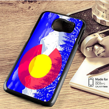Colorado Flag Pop Art Samsung Galaxy S4 S5 S6 S6 Edge S6 Edge Plus S7 S7 Edge Case Note 3 4 5 Edge Case