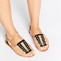 Warehouse Hariachi Weave Flat Sandals