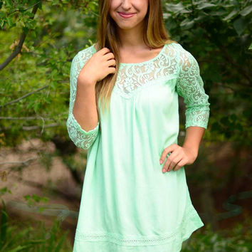The Lacey Dress - Mint