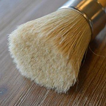 Professional Chalk Paint Wax Brush | Painting or Waxing | Annie Sloan Dark & Clear Soft Wax | Furniture, Stencils, Folkart, Home Decor, Wood | Large Brushes with Natural Bristles by Chalkology