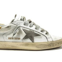 Genuine Leather Golden Goose Italy Brand Superstar Sneakers Worn for Men Women - Handmade Star Shoes