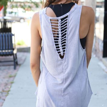 Braided Workout Tank, Lavender