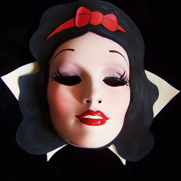Snow White Mask - Evil Queen, Sweet, Hand Painted -Disney inspired