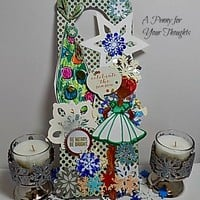 Be Merry. Be Bright Handmade Oversized Gift Tag.