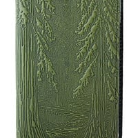 Oberon Design - Forest Leather Checkbook Cover
