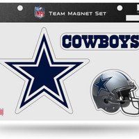 NFL Dallas Cowboys Team Magnet Set