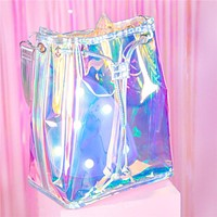 Iridescent Holographic Shoulder Bag