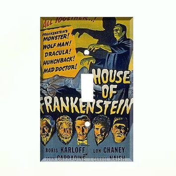 Light Switch Cover - Light Switch Plate House Of Frankenstein Vintage Movie Poster