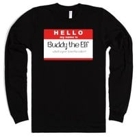 Buddy the Elf, what's your favorite color?-Unisex Black T-Shirt