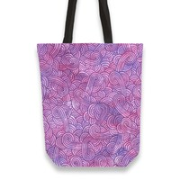'Hot purple and pink swirls doodles' Tote Bags by Savousepate on miPic