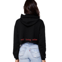 Not Today Satan Cropped Hoodie
