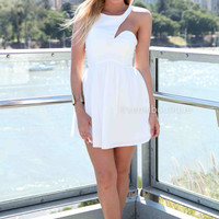 PRE ORDER - MY NIGHT 2.0 DRESS (Expected Delivery 31st March, 2014) , DRESSES, TOPS, BOTTOMS, JACKETS & JUMPERS, ACCESSORIES, 50% OFF SALE, PRE ORDER, NEW ARRIVALS, PLAYSUIT, COLOUR, GIFT VOUCHER,,White,CUT OUT Australia, Queensland, Brisbane