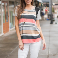 Tons Of Fun Tee, Peach Echo