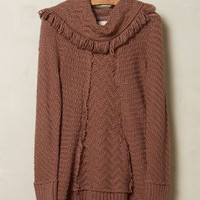 Fringed Cowl Sweater by Angel of the North Taupe
