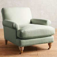 Linen Willoughby Chair, Wilcox by Anthropologie