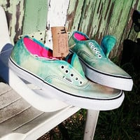 Custom Acid Wash Vans Lo Pro (Cloudy Day)