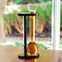 Bottoms Up Half Yard of Ale Glassware and Stand Set | Overstock.com