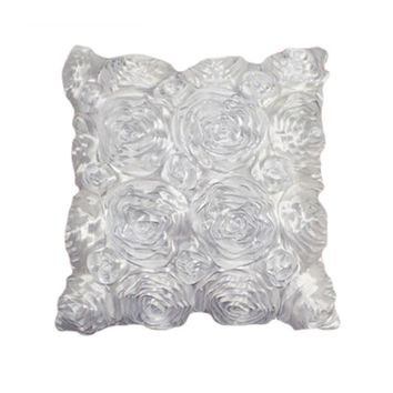 Fashion Floral Decorative Satin Throw Sofa Pillow Case Cushion Cover