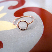 Rose Gold Thin Circle Ring - Thin Band, Gold Jewelry, Eternity Circle