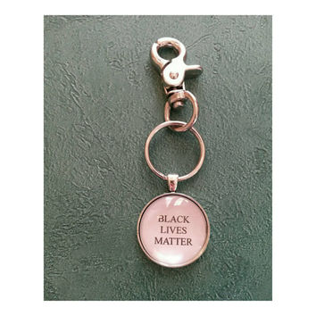 Black Lives Matter quote keychain
